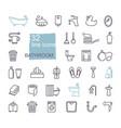 restroom bathroom icon set line style stock vector image vector image