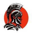 roman soldier or gladiator inside circle vector image
