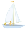 sailing boat with a people vector image vector image