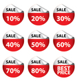 Sale Banner with Many discount price Circle sign vector image