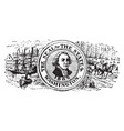 seal of the state of washington 1904 vintage vector image vector image