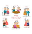 senior couples in love at valentine s day vector image vector image