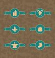 set christmas decoration vintage emblems vector image