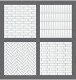 set of seamless patterns with modern rectangular vector image