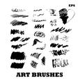 Set of various grunge brush vector image