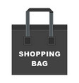 shopping bag big vector image