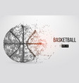 silhouette of a basketball ball vector image vector image