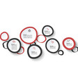 six handle circles infographics vector image