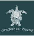 stop trashing our ocean vector image vector image