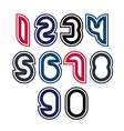 Stylish unusual rounded numbers colorful vector image
