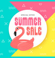 summer sale banner background design with vector image