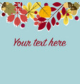 template for cardinvitation with leaves vector image vector image