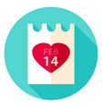 valentine day paper circle icon vector image vector image