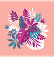 vibrant bright simple tropical leaves vector image