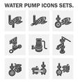 water pump icon vector image vector image