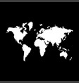 world map it is the white color icon vector image