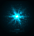 3d illuminated abstract explosion glowing vector image vector image