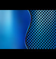 abstract blue metallic metal background made from vector image vector image