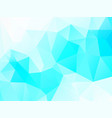 abstract blue white background with triangles vector image vector image
