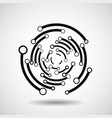 abstract circle with lines geometric logo vector image vector image