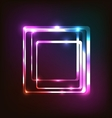 Abstract colorful glowing background with rounded vector image vector image