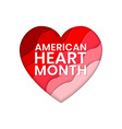 american heart month banner design template vector image vector image