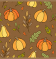 autumn seamless pattern with pumpkins vector image vector image