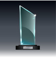 award glass trophy of on a vector image vector image