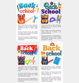 back to school posters set with place for text vector image vector image