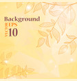 background with branches and leaves vector image vector image