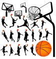 basketball and backboard vector image vector image