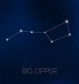 Big Dipper constellation in night sky vector image vector image