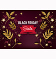 black friday discounts and sale for holiday vector image vector image