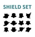 Black Shields Set vector image vector image