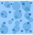 blue flowers and circles vector image