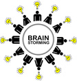 Brainstorming concept with people having ideas vector image