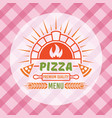 brick oven with flame and pizza slices vector image vector image