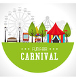 Carnival design over white background vector image vector image