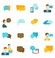Chat icons flat vector image
