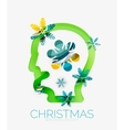 Christmas head concept Modern holiday user design vector image