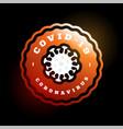 coronavirus covid19-19 logo modern professional