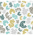 Currency seamless pattern vector image vector image