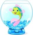 Cute Cartoon Fish in Aquarium vector image vector image