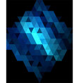 Deep blue diamond graphic background vector image vector image
