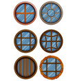 different design of round window vector image vector image