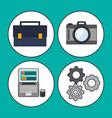 digital marketing concept business work vector image vector image