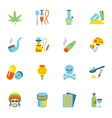 Drugs Icons Flat vector image vector image