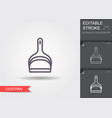 dustpan line icon with editable stroke with vector image vector image