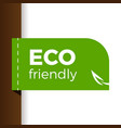 eco label vector image vector image