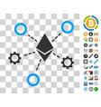 ethereum network nodes icon with bonus vector image vector image